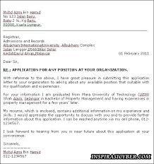Contoh Cover Letter Lamaran Kerja Email   Cover Letter Templates