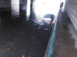 thousands southside out power after severe weather tv flooded underpass on colley avenue in norfolk on 10 2014 reportit