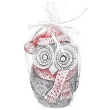 <b>Свеча декоративная</b>, <b>10</b> см, Зимняя сова фигурка Bartek candles ...