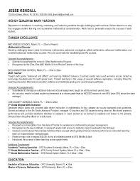 samples of curriculum vitae of teachers   thank you letter after    samples of curriculum vitae of teachers education curriculum vitae workbloom math teacher resume sample job resume