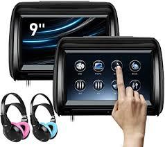 XTRONS 2 x 9 Inch Pair Car Headrest DVD Player HD ... - Amazon.com