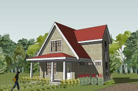 Small house plans and home designs  small cottage  bungalow        Scandia Small Shingle Cottage House Plan