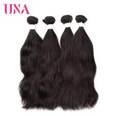 <b>UNA Brazilian Natural Hair</b> Weaves 4 Bundles Deal Natural Color ...