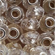 <b>10pcs</b>. 15mm x 10mm Charms. Clear Acrylic Plastic <b>European</b> | Etsy
