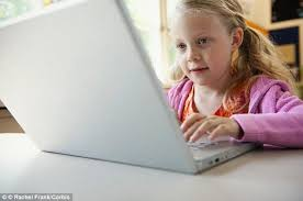 Reports have found that by the age of eight  children can already type faster than Daily Mail