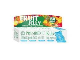 """Зубная <b>детская</b> паста <b>PRESIDENT</b> """"Fruit Jelly. Мармелад"""",от 3 до ..."""