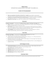 example entry level programmer resume science resume template    science resume template computer science resume example entry level programmer resume