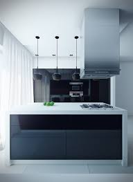 black kitchen design ideas white island countertop black pendant lights gloss black kitchen contemporary black kitchen island lighting