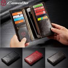 CaseMe Luxury <b>Business Flip</b> Wallet Bag 11 Card Slots Cover ...