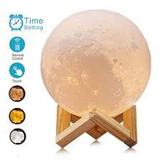 ACED 5.9Inch Luna <b>Moon Lamp</b> Night Light <b>3D Printed</b> Lunar ...