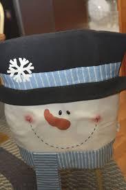 <b>4X BLUE</b>/<b>WHITE</b> SNOWMAN CHAIR BACK COVERS Christmas ...