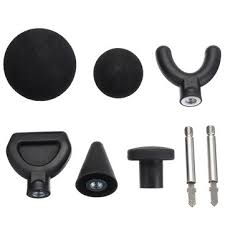 <b>6pcs massage</b> heads & extended rod for <b>percussion massager</b> at ...