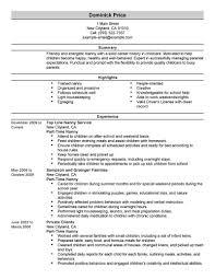 nanny resume examples in nanny resume examples babysitting part time nanny resume sample part time nanny personal care and nanny resume sample qualifications nanny