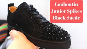 Christian <b>Louboutin</b> - Louis Junior Spikes (<b>Black Suede</b>) F/W 16 ...