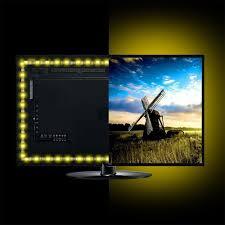 4Pcs <b>USB</b> Powered <b>RGB 5050 LED</b> Strip Lighting for TV Computer ...