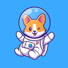 Free Vector | <b>Cute corgi</b> astronaut flying cartoon vector illustration ...