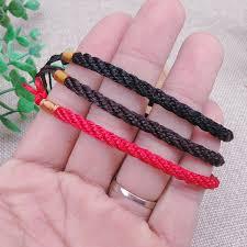 <b>100pcs Red Black Coffee</b> Rope Chain For DIY Bracelets Fashion ...