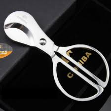 <b>Free Shipping 1pcs</b> Cohiba Stainless steel Silver Scissor Cigar ...