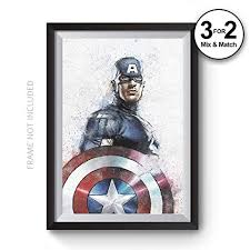 <b>Captain America</b> Abstract Movie Poster, The Avengers Graffiti Winter ...