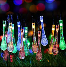 Buy Techno <b>E</b>-Tail 20 LED <b>Decorative</b> String Lights, Waterdrop ...