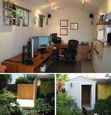 backyard home office. backyard shed turned home office diy