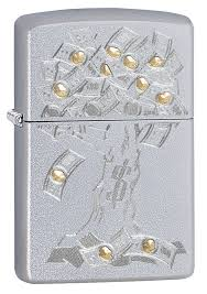 <b>Зажигалка Satin Chrome Money</b> Tree Design ZIPPO 29999 купить ...