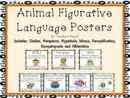 FREE Figurative Language Animal Posters This set of posters uses     FREE Figurative Language Animal Posters This set of posters uses animals to help teach the
