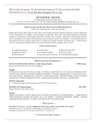daycare resume sample day care worker child childcare jennifer gallery of sample resume child care worker