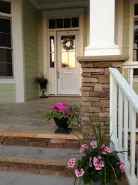 patio steps pea size x: front porch like the stacked stone for each step