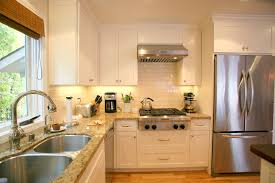 brown granite countertops kitchens pinterest black  interior white wooden kitchen cabinet with cream marble counter