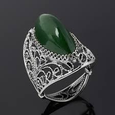 Купить Кольцо <b>нефрит зеленый</b> Россия (<b>нейзильбер</b>) размер 18 ...