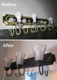 decor chrome bathroom light fixtures edison: how to change brass and chrome light fixtures to oil rubbed bronze plus tips for