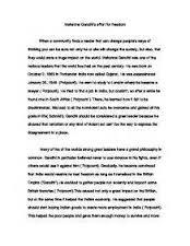 essay on mahatma gandhi