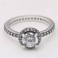 <b>Manual</b> Mosaic Round Big CZ Charm Ring Solid <b>925 Sterling Silver</b> ...
