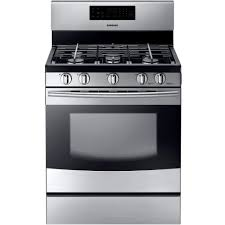 Gas Stainless Steel Cooktop Samsung 30 In 58 Cu Ft Gas Range With Self Cleaning Oven And 5