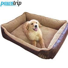 6 Size Soft Fleece Pet <b>Dog Bed Cushion</b> Bone Print Large Dog Beds ...