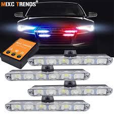 1Set Wireless Remote Car <b>LED</b> Strobe Light 12V 2 <b>LEDs</b> Chrome ...