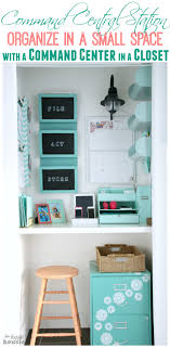 command central station get organized in a small space with a command center in a closet catch office space organized