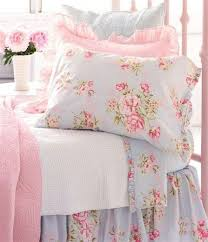 roses for little girls room sweet old fashioned blue shabby chic bedding