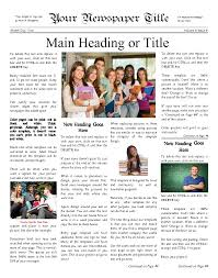 classic newsy front page for any school try this x classic newsy front page for any school try this 11 x14 newspaper template