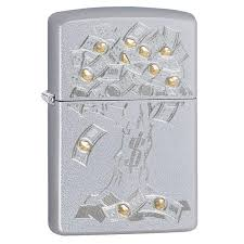 <b>Зажигалка Satin Chrome Money</b> Tree Design ZIPPO 29999 купить в ...