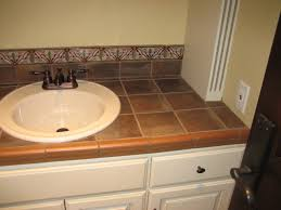 tile countertops bathroom