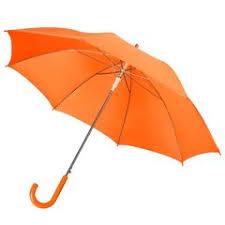 <b>Зонт</b>-трость <b>Unit Promo</b>, оранжевый с логотипом - купить в СПб и ...