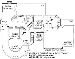 Large Victorian Home Plan   LD   st Floor Master Suite    Floor Plan