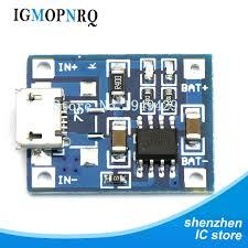 5pcs <b>USB</b> 5V 1A 18650 TP4056 Lithium Battery Charger Module ...