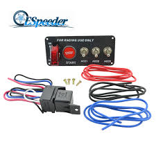 ESPEEDER Auto <b>Racing</b> 3 Switch Panels Red Cover <b>Toggle Switch</b> ...