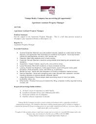 sample property manager resume  seangarrette co   property manager resume samples residential assistant apartment manager resume sample