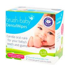 Салфетки для <b>полости рта</b> с ксилитолом <b>Brush Baby</b> (28 шт.) (от ...
