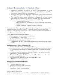 graduate school letters of recommendation cover letter graduate school letters of recommendation