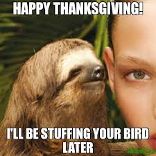 Happy thanksgiving! I'll be StufFing your bird later meme ... via Relatably.com